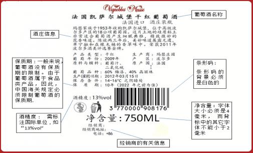 etiquetado en china